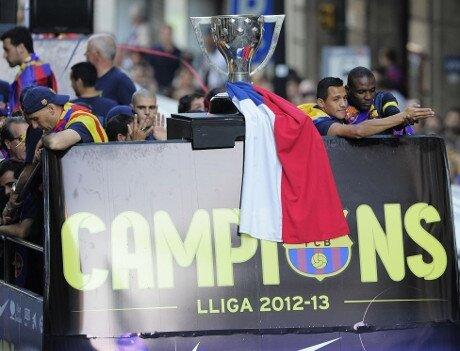 500.000 aficionados celebran con el Barça el título de Liga 2012-13 - imagen 5