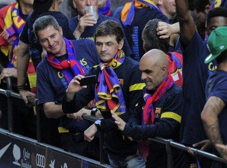 500.000 aficionados celebran con el Barça el título de Liga 2012-13 - imagen 6