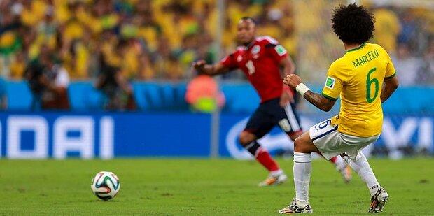 Marcelo con la selección brasileña