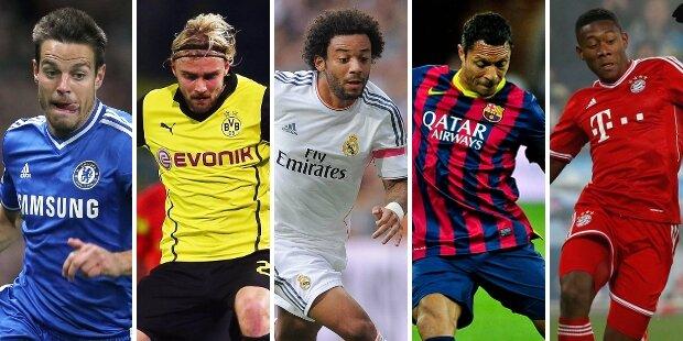 Mejores laterales izquierdos de la Champions League 2013/2014