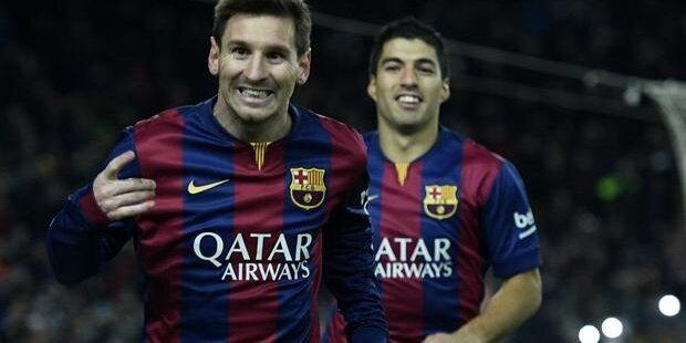 Messi marcó dos goles en la Final 2015 de la Copa del Rey