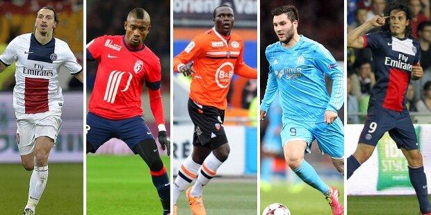 Top-5 atacantes liga francesa 2013-2014