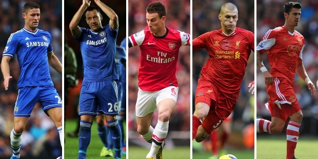 Top-5 centrales Premier League 2013-2014