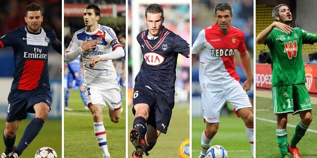 Top-5 centrocampistas defensivos liga francesa 2013-2014