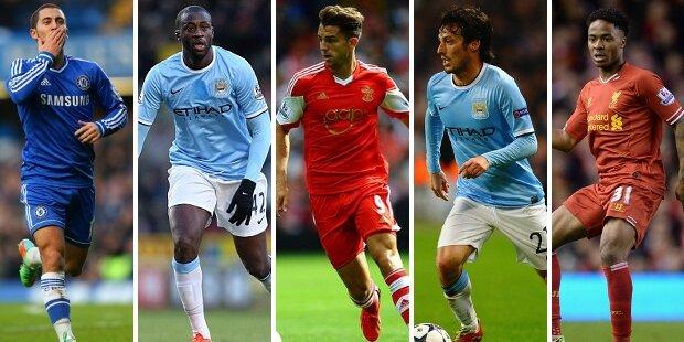 Top-5 centrocampistas ofensivos Premier League 2013-2014