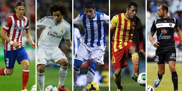 Top-5 laterales izquierdos Liga BBVA 2013-2014