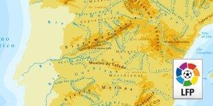 Geografía de la Liga BBVA
