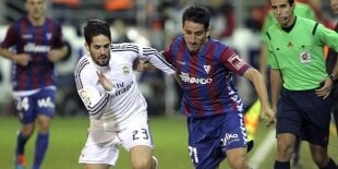 La actuación de Isco como centrocampista ante el Eibar