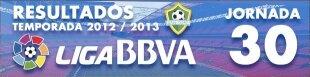 Resultados Liga BBVA 2012-13: Jornada 30
