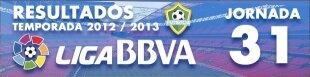 Resultados Liga BBVA 2012-13: Jornada 31