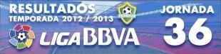 Resultados Liga BBVA 2012-13: Jornada 36