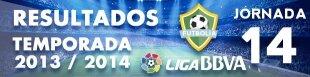 Resultados Liga BBVA 2013-14: Jornada 14