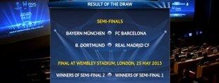 Sorteo de semifinales de la Champions League 2012-13