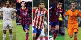 Top-5 atacantes Liga BBVA 2013-2014