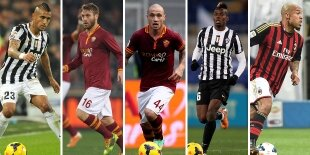 Top-5 centrocampistas defensivos Serie A 2013-2014