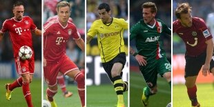 Top-5 centrocampistas ofensivos Bundesliga 2013-2014