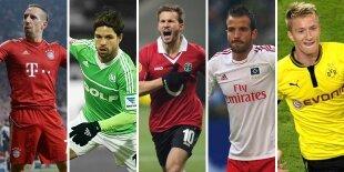 Top-5 centrocampistas ofensivos Bundesliga (Primera vuelta)