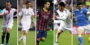 Top-5 centrocampistas ofensivos Liga BBVA 2013-2014