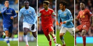 Top-5 centrocampistas ofensivos Premier League 2013-2014