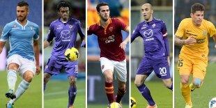 Top-5 centrocampistas ofensivos Serie A 2013-2014