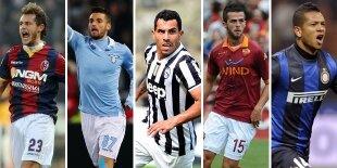 Top-5 centrocampistas ofensivos Serie A (Primera vuelta)