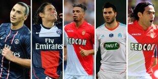 Top-5 delanteros centro liga francesa (Primera vuelta)