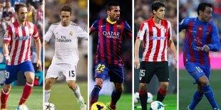 Top-5 laterales derechos Liga BBVA 2013-2014