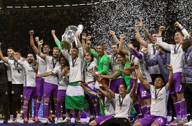 Real Madrid celebrando su último título de Champions League