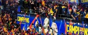 500.000 aficionados celebran con el Barça el título de Liga 2012-13