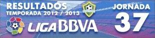 Resultados Liga BBVA 2012-13: Jornada 37