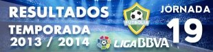 Resultados Liga BBVA 2013-14: Jornada 19